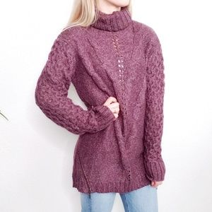 Matilda Jane NWT Purple Cozy Knit Dixie Sweater